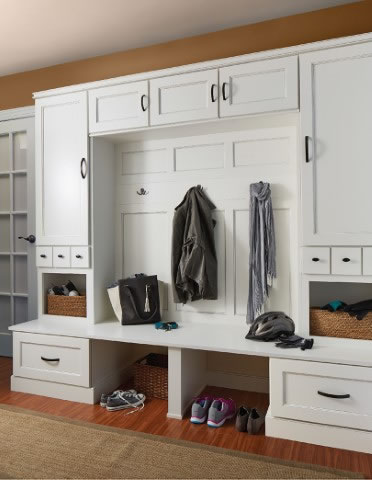 Parker Maple White Mudroom